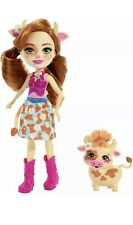 Enchantimals Wave 4 Cailey Cow Doll with Pet Curdle Playset