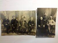Antique Photos Lot  Russian Family Tsarism Orchestra 2 pcs