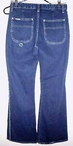 GASOLINE Jeans Sz 5/6 Flare Blue 100% Cotton Denim Mid Rise w/Drawstring Women