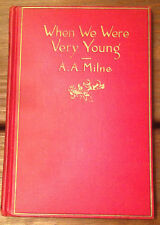 When We Were Very Young by A.A. Milne -hardbound,  1924