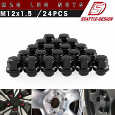 24 MAG LUG NUTS BLACK 12X1.5 FITS TOYOTA 4RUNNER TACOMA 6X5.5 FACTORY WHEELS
