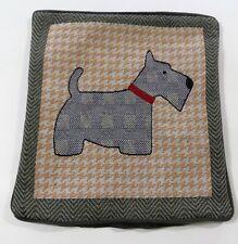 """Scottie dog herringbone tapestry throw pillow cover  15 x 15"""""""