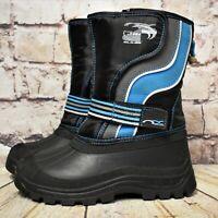 Boys NEXT Black Blue Touch Fastening Fleece Lined Winter Snow Boots UK 1 EUR 33