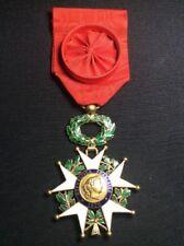 Croix Ordre Légion D'honneur en or poinçon Tête d'aigle - Médaille militaire
