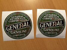 2x Motor Öl Aufkleber Sticker Oil Gasoline Tuning Rockabilly Custom Hot Rod WOW