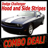 *COMBO Hood and Side Stripes Vinyl Graphics Decals (3M Grade) fits Challenger
