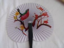 Folding Hand Held Fan with handle and clip to hold closed