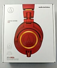 NEW Audio Technica ATH-M50xRD Red Studio Monitor Headphones Limited Edition