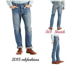 "Levi's Mens 501 Brand New Design Stretch Jeans,Color "" The Ben "" Size 33 x 34"