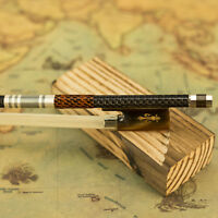 Silver Braided Carbon Fiber Violin Bow Pro. Level Ox Horn Frog New 4/4 VingoBow