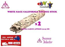 Aroma White Sage California X 2  Smudge Stick EXTRA LARGE 22-25cm incense_master