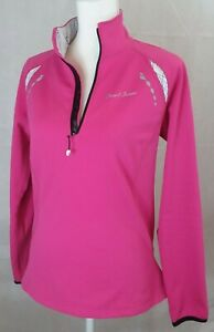 Pearl Izumi 1/4 Zip Fleece Lined Cycling Pullover Womens medium pink