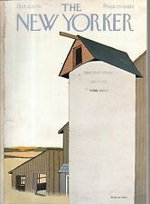 1976 New Yorker October 11 - Grain silo and mill in the Finger Lakes by Simpson