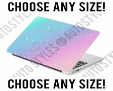Faux Ombre Glitter Blue Pastel Pink Laptop Skin Decal Sticker Tablet Vinyl Cover