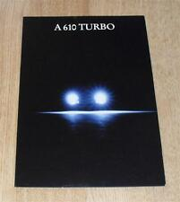 Renault A610 Turbo Brochure 1992 Alpine GTA Replacement
