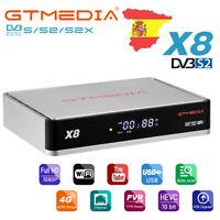 X8 Receptor Satélite HD 1080P DVB-S2/S2X -Astra y Hotbird Preinstalados,DLNA,M3U