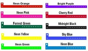 100 x Vinyl Plastic Wristbands For Disco Pool Party Security Rave Sport Event