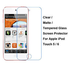 Tempered Glass/Clear/Matte Screen Protector For Apple iPod Touch 5 / 6 5th / 6th