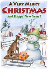 "Whippet Dog A6 (4"" x 6"") Christmas Card (Blank inside) Design by Starprint"