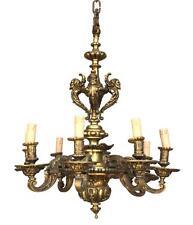 Lustre en bronze Louis XIV aux diablotins