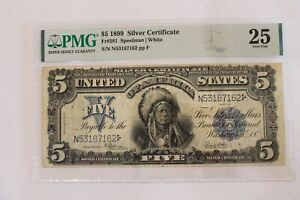 1899 5.00 Five Dollar Silver Certificate FR281 PMG25 Chief