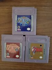 Zelda: Link's Awakening + Oracle of Ages + Seasons GBC Carts [REPRODUCTION]