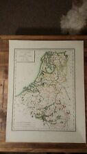 VERY NICE, ANTIQUE Hand Colored map of the Netherlands - P. Tardieu, c.1790