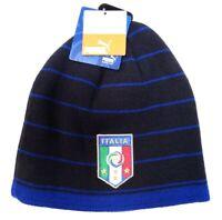 Puma Italia FIGC Blue Knit Beanie Skull Cap Adult One Size Italy NWT
