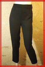 INDIES Taille 36 Superbe pantalon habillé noir femme polyester black trousers