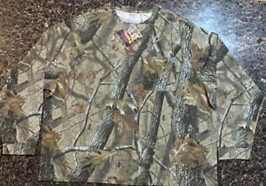 Outfitters Ridge Shirt Men's Long Sleeve RealTree Hardwoods Camouflage Size 3XL
