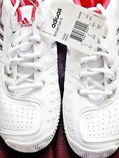 Women Tennis athletic shoes Sz 8.5 Adidas Barricade Team White Pink Nwt Adituff