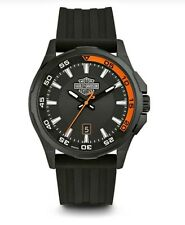 Harley-Davidson® Bulova Men's Bar & Shield Stainless Steel Wrist Watch 78B140