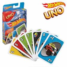 New Hot Wheels Edition UNO Card Game w/ 4 Extra Cards Mattel Official