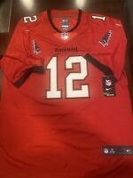 #12 Tom Brady Tampa Bay Buccaneers Men's RED Stitched Jersey