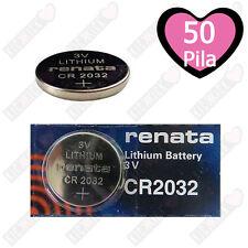 50x BATTERIA PILA RENATA 3V LITHIUM LITIO CR2032 CR 2032 TRASMETTITORI TELECOM