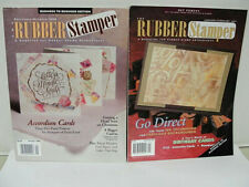 The Rubber Stamper Vintage Magazine 2 each 1998, 2001 Accordian Cards, Ideas