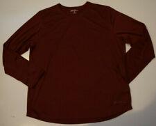 Eddie Bauer Mens Shirt Tawny Port Red Active Long Sleeve T Shirt 2Xl Xxl Nwt