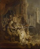 """REMBRANDT Painting Poster or Canvas Print """"Ecce Homo"""""""
