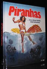 BLU-RAY+DVD - PIRANHAS - MEDIABOOK - Piranha-Horror - 1978 - LIMITED EDITION NEU
