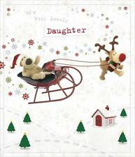 BOOFLE VERY LOVELY DAUGHTER CHRISTMAS CARD NEW GIFT