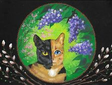 1.5x2 Dollhouse Miniature Print Of Painting Ryta 1:12 Scale Tortoise Shell Cat