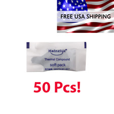 Grey Thermal Paste Silicone Grease For CPU, GPU, Heatsink Cooling -50 Packets!