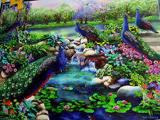 """300 Piece Art Puzzle """"Peacock Majesty"""" New18""""x 24"""" Large Pieces Format"""