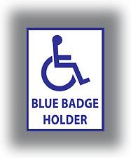 2 x disabili Blue Badge Holder Sticker Vinyl auto furgone Finestra Adesivo Segno