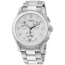Victorinox Chrono Classic Analog Display Swiss Quartz Silver Men's Watch 241538