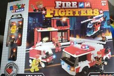 Brick By Brick Fire Fighters Lego Set Brand New