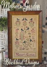 MOTHER'S GARDEN BLACKBIRD DESIGNS CROSS STITCH SAMPLER CHART