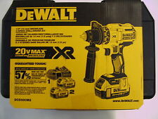 DEWALT DCD990M2 20v XR Lithium Ion Cordless Brushless 3 Speed Drill/ Driver- New