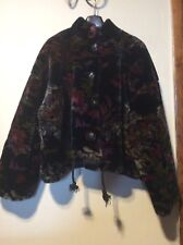 Womens Boho Hippy Vegan Faux Fur Thick Pile Short Coat Jacket by Luly K Black Fl