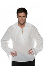 Tattered Pirate Shirt White Adult Costume